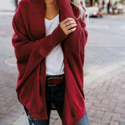 Loose Knit Cardigan - Red / L - Cardigan