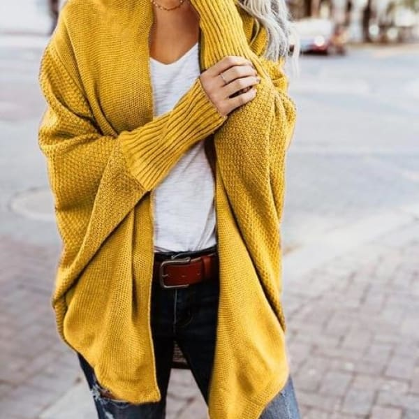 Loose Knit Cardigan - Ginger / L - Cardigan