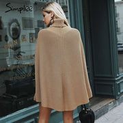 Turtleneck Cape - Sweater