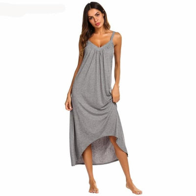 Womens Sleeveless Pajama Nightgown - Night Gown