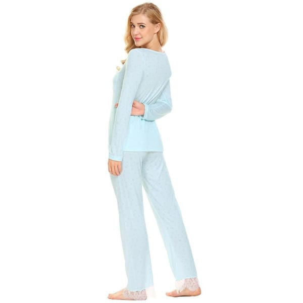 Womens Long Sleeve Top And Pant Pajama Set - Pajamas