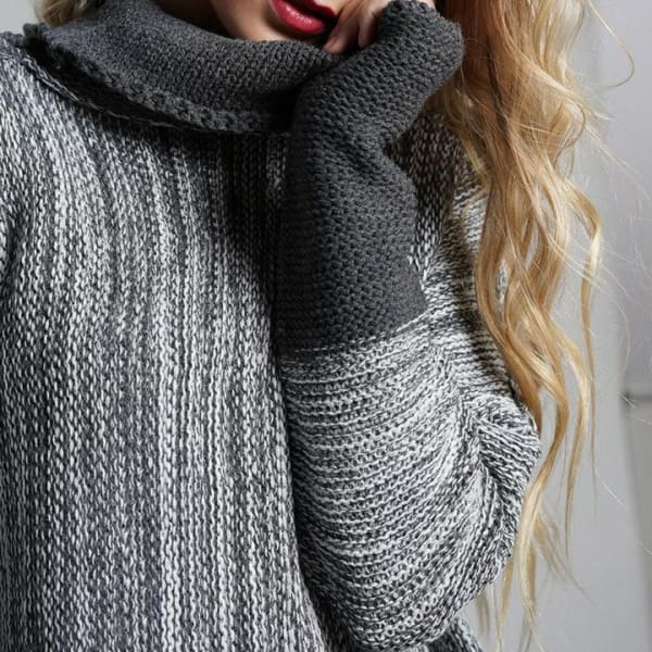 Oversized Pullover Sweater - Pullover