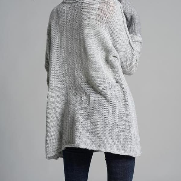 Oversized Pullover Sweater - Gray / L - Pullover