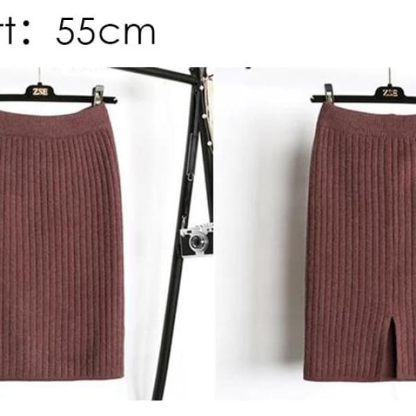Knit Pencil Skirt - Skirt
