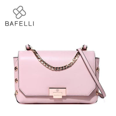 BAFELLI Riveted Messenger Bag - Pink / 9W x 6.25H x 3D - Messenger