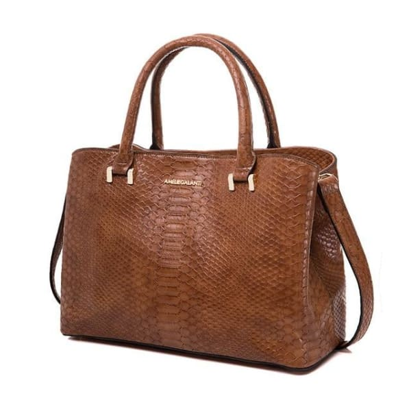 Serpentine Small Tote - Brown / Imported - Tote