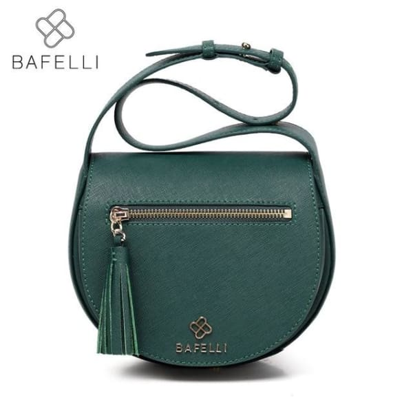 BAFELLI Vintage Saddle Bag - Green / 9.48W x 6.30H x 2.55D - Saddle Bag
