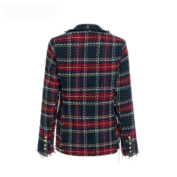 Tweed Plaid Blazer - Blazer