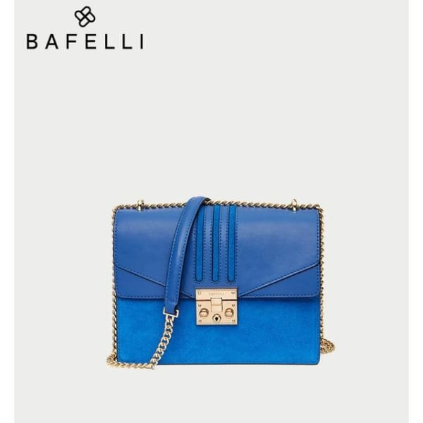 Leather Flap Crossbody - Royal Blue - Crossbody