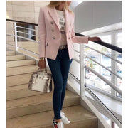 Double Breasted Pink Blazer - Blazer
