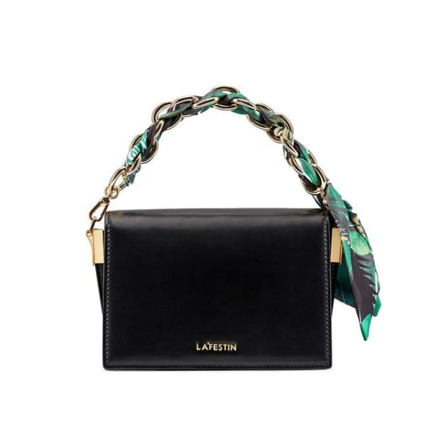 LA FESTIN Crossbody with Chain Strap - Black - Crossbody