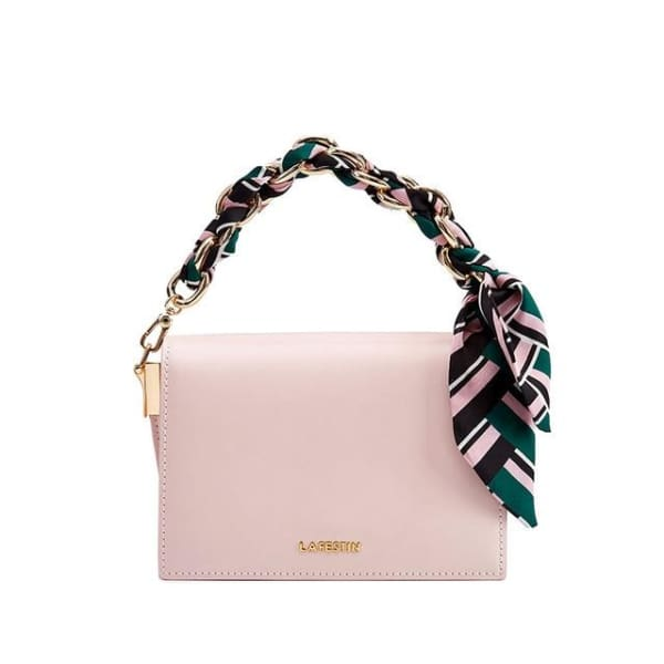 LA FESTIN Crossbody with Chain Strap - Pink - Crossbody