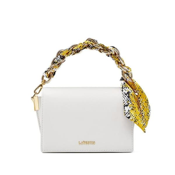 LA FESTIN Crossbody with Chain Strap - White - Crossbody
