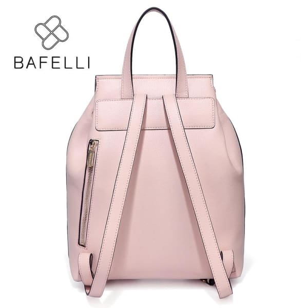 BAFELLI Genuine Leather Drawstring Backpack with Tassels - Backpack
