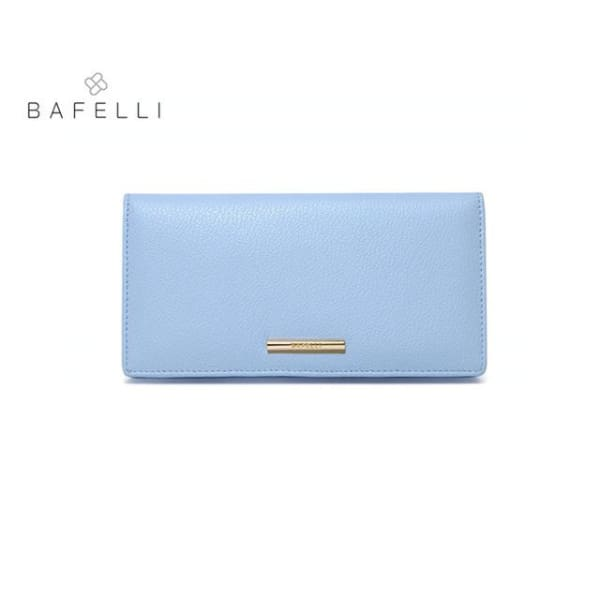BAFELLI Leather Wallet Large - Light blue