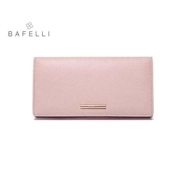 BAFELLI Leather Wallet Large - Pink