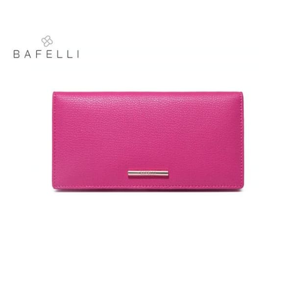 BAFELLI Leather Wallet Large - Rose