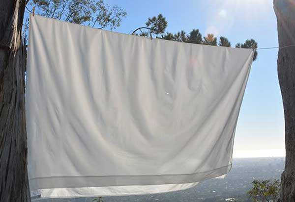 Organic sheet sets are best line dryed on a clothesline to reduce wrinkles