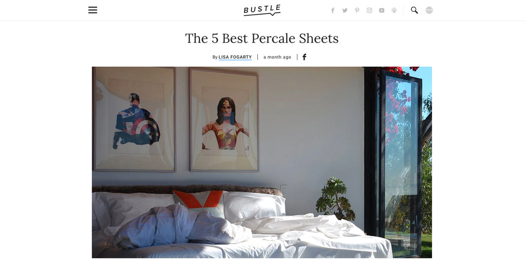 being named the best organic percale sheets by bustle magazine is an honor