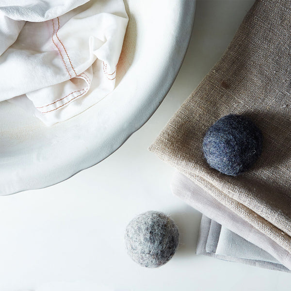 dryer balls are a great way to dry organic sheets and bedding