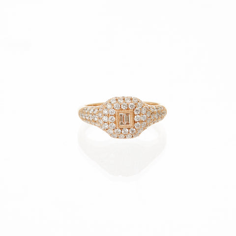 Pave Rectangle Ring