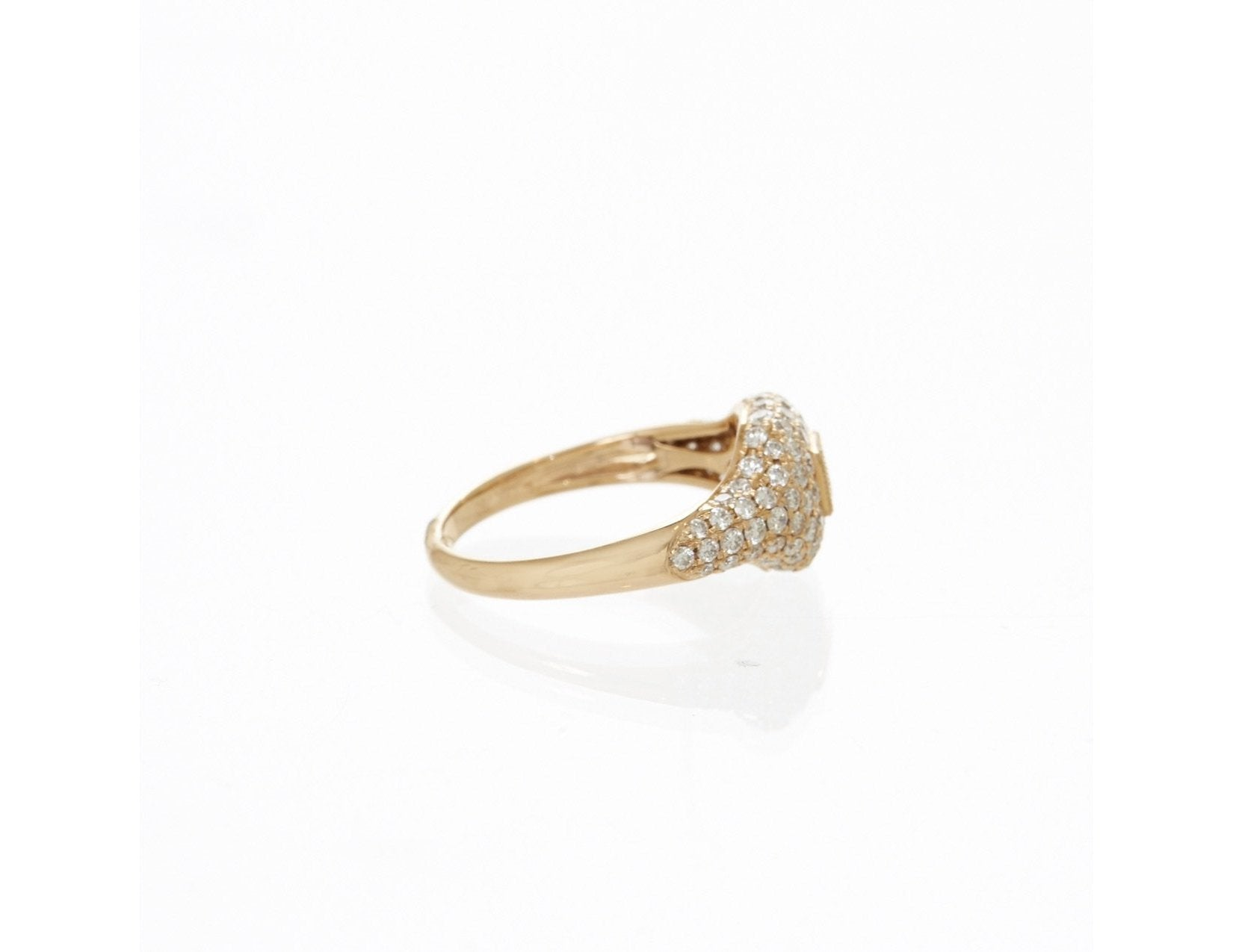 Pave Baguette Diamond Ring