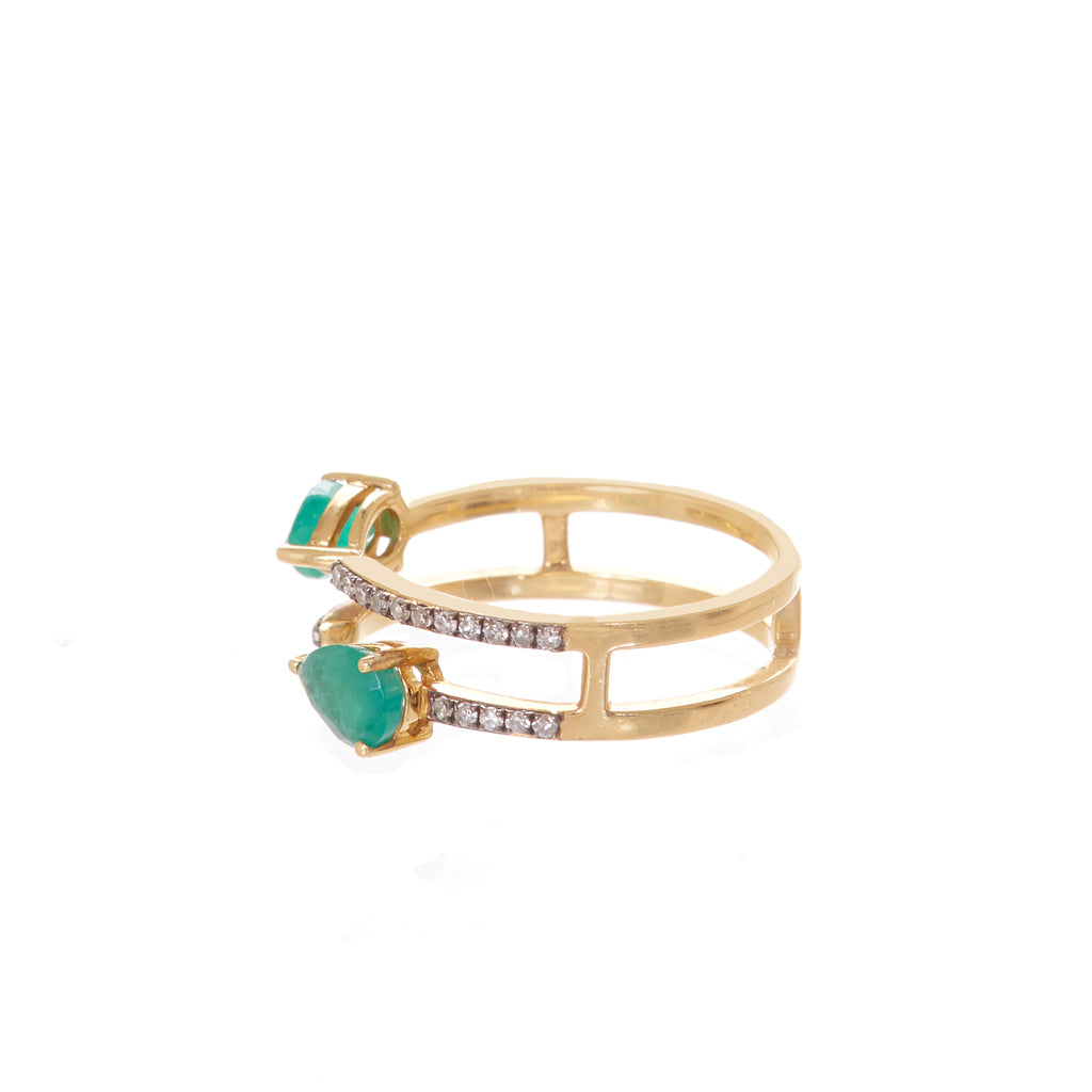 Claudia Emerald Ring