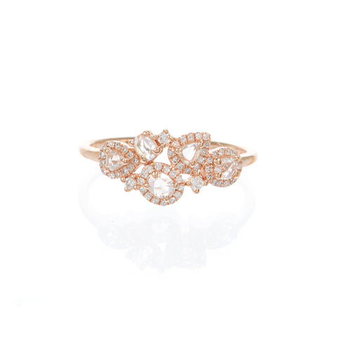Diamond Heart Stamp Ring