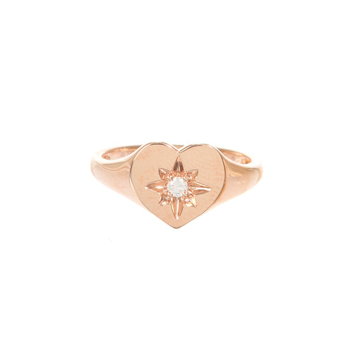 Dorothy Heart Stamp Ring