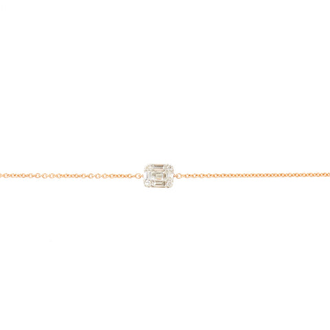 Double Diamond Chain Anklet