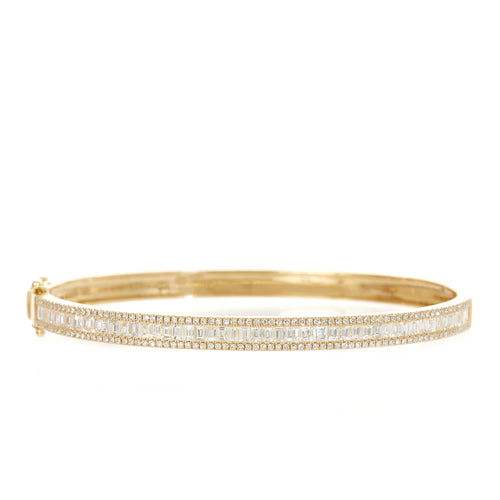 Baguette Diamond Dazzle Bangle