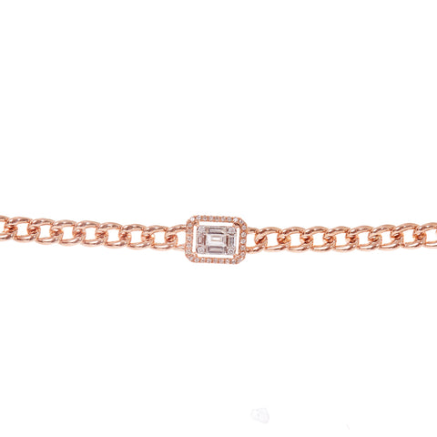 Black and Blue Diamond Bracelet