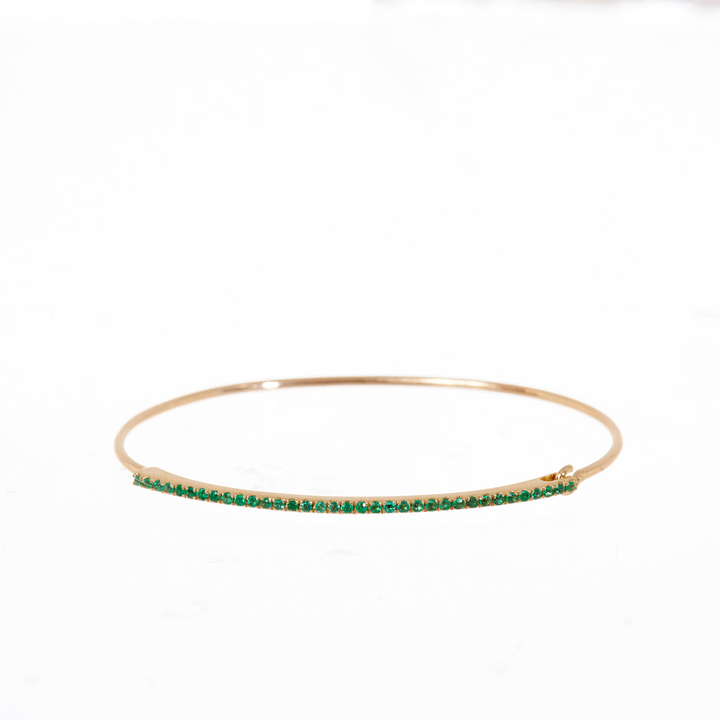 Jaime Emerald Bangle