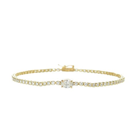 Diamond Oval Bridge Bracelet