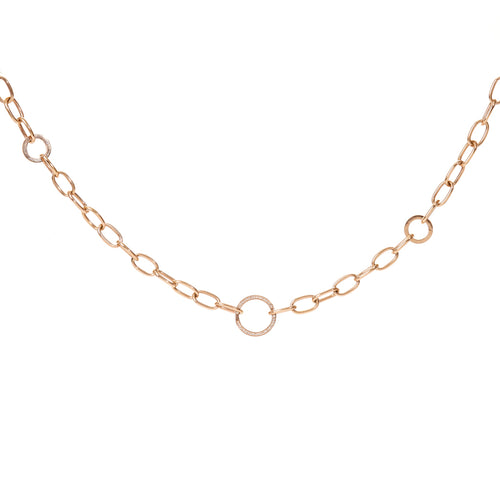 Diamond Ring Charm Chain