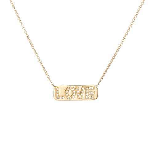 Pressed LOVE Diamond Necklace