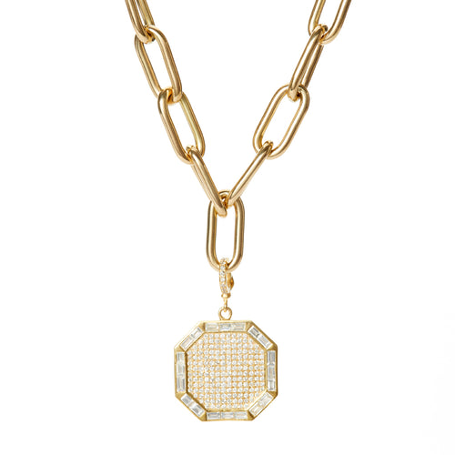 Diamond Octagon Pendant