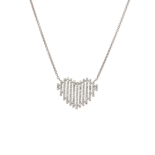 Diamond Pixel Heart Necklace