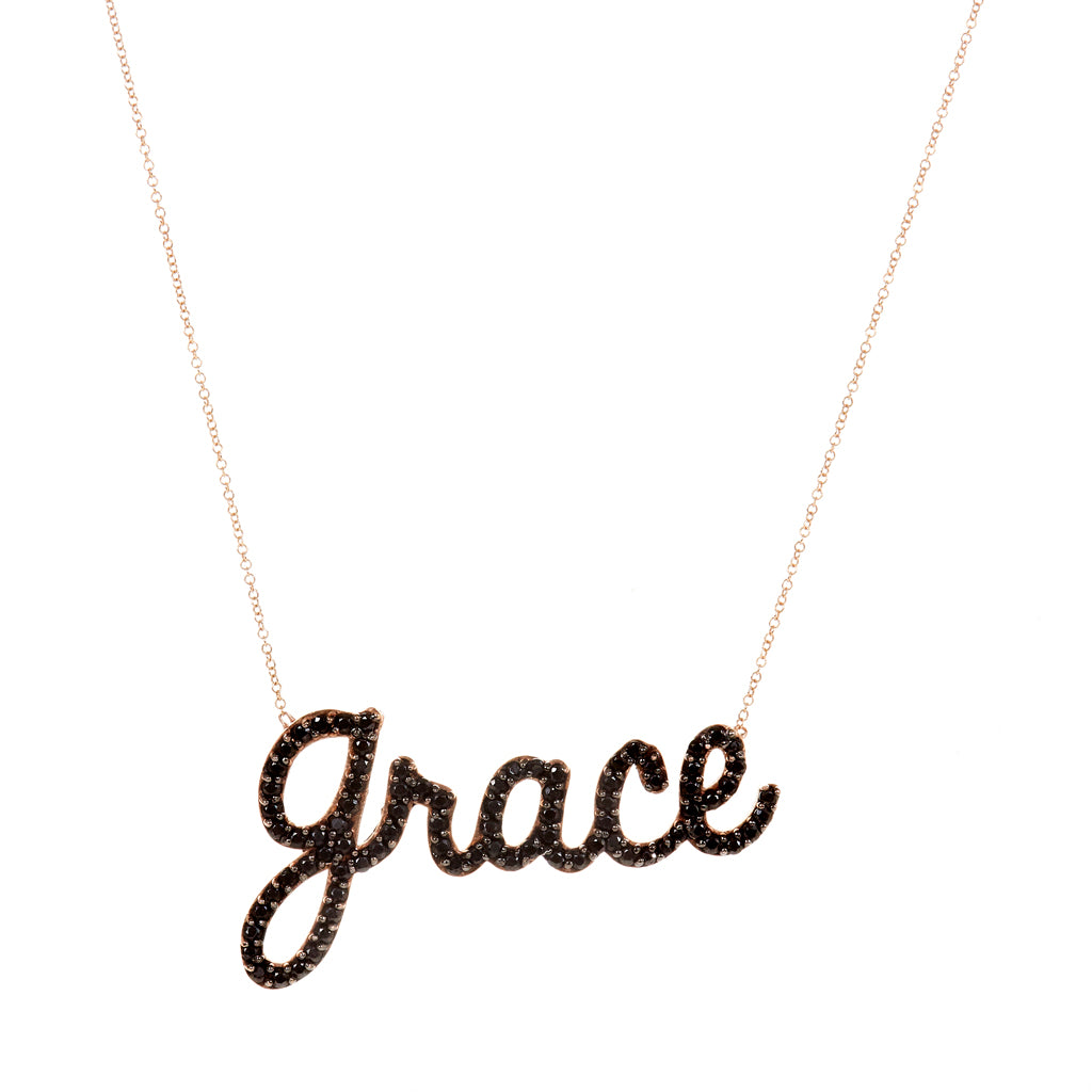 Jumbo Cursive Name Necklace