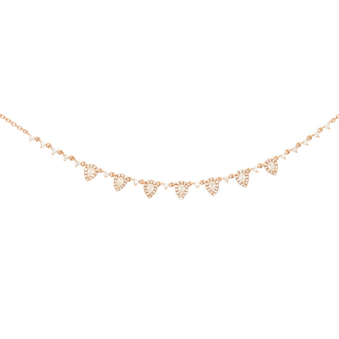 Adorned Slice Diamond Necklace