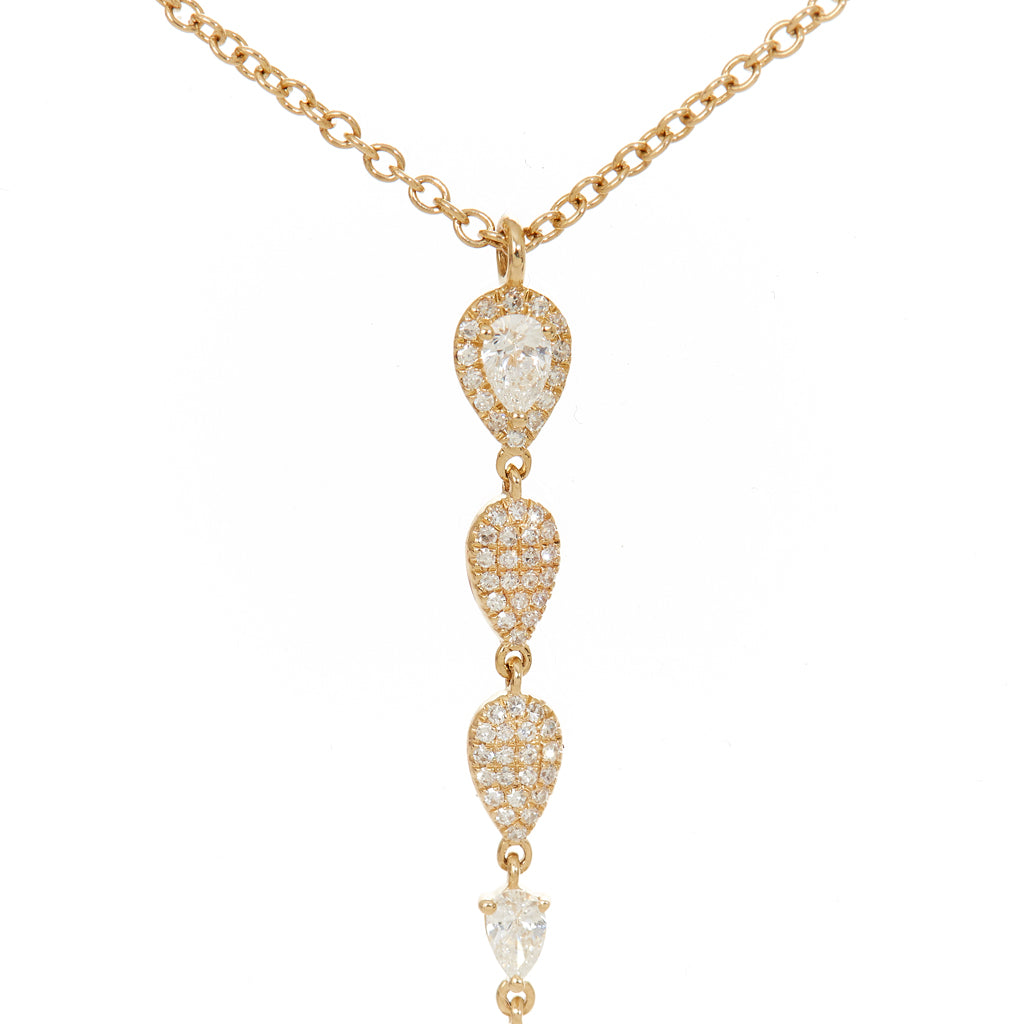 Dawn Diamond Drop Necklace
