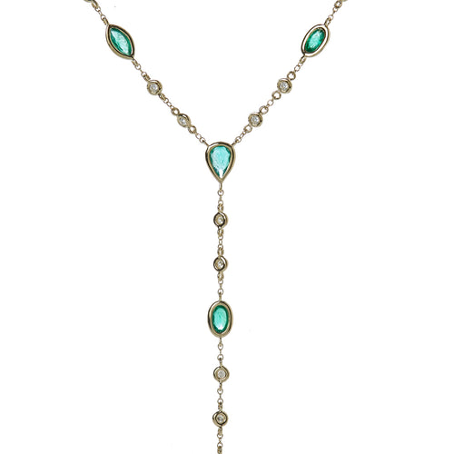 Serpent Emerald Lariat