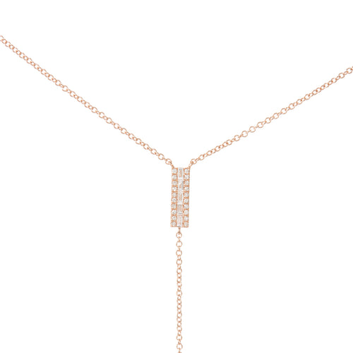 Baguette Diamond Bar Lariat