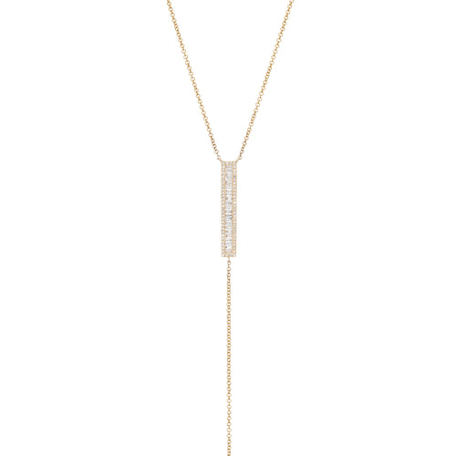 Roe Baguette Diamond Bar Lariat