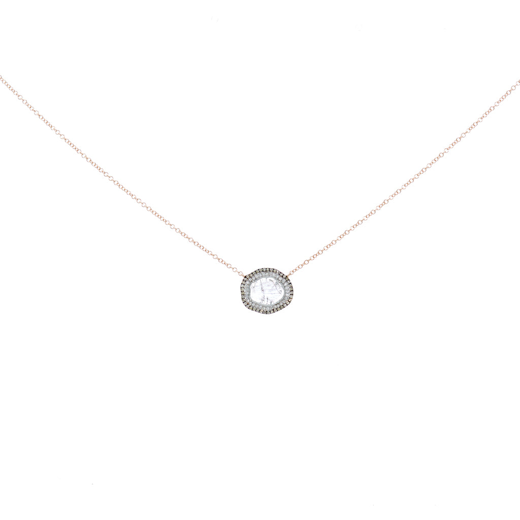 Double Halo Slice Necklace
