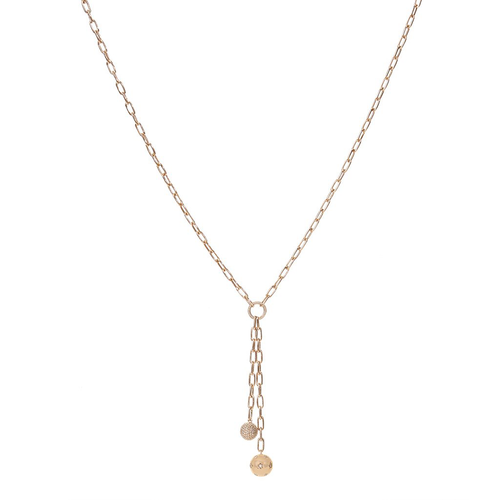 Disc Diamond Tether Necklace