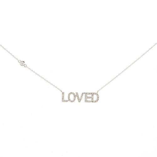 LOVED Necklace in Pave Diamonds