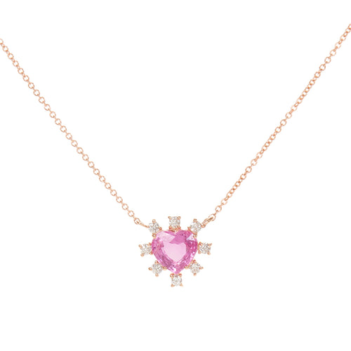 Pink Spade Necklace