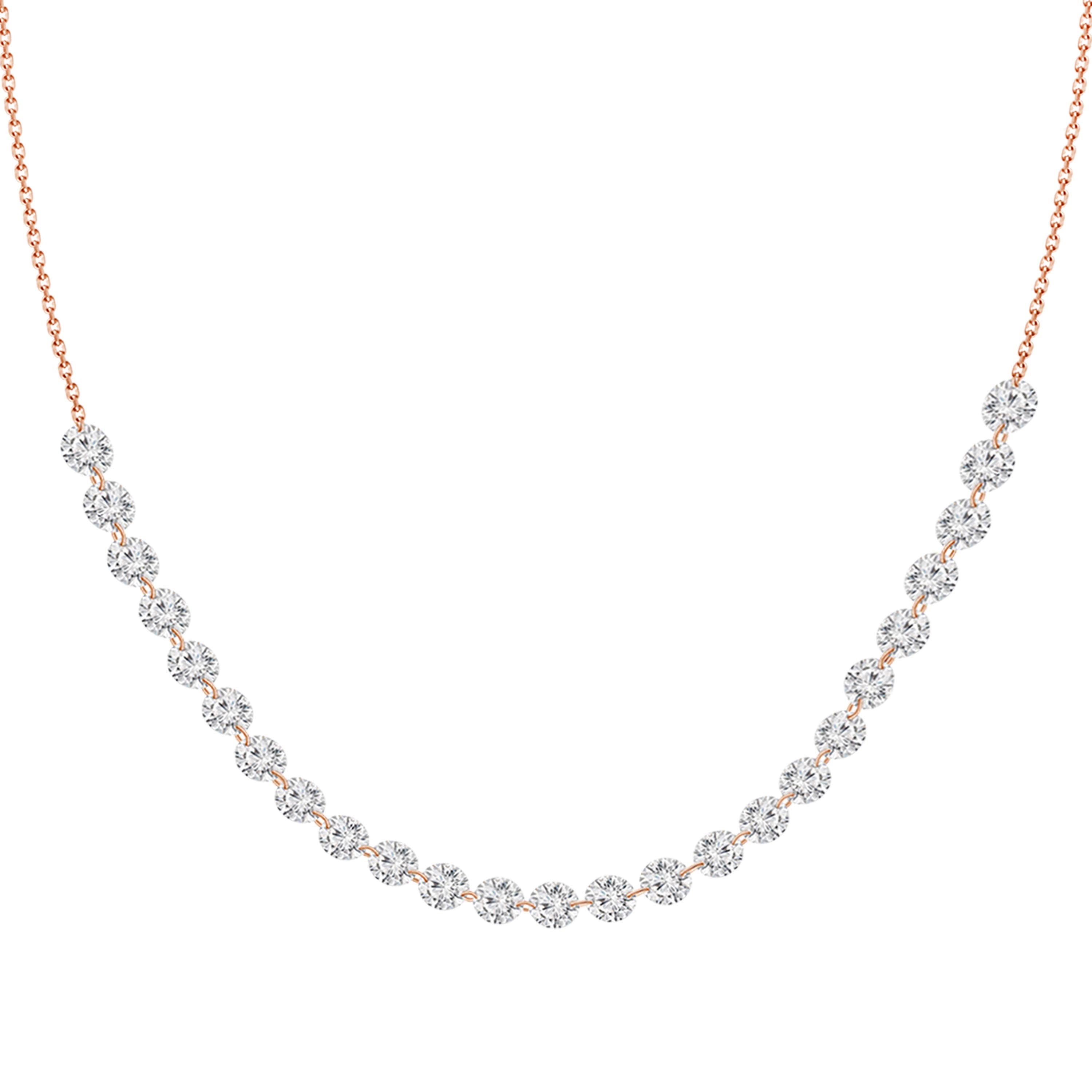 Nina Sequenced Floating Diamonds Necklace