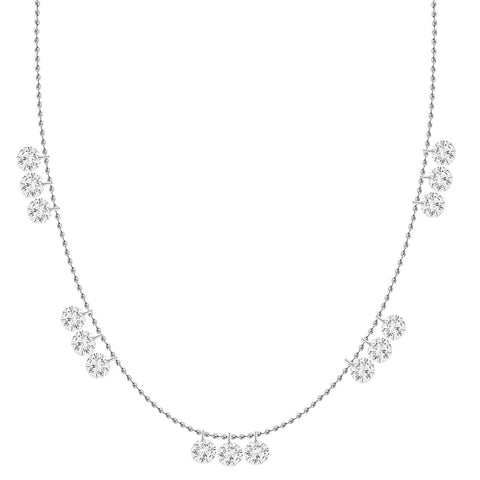 Star Charm and Spaced Diamonds Necklace